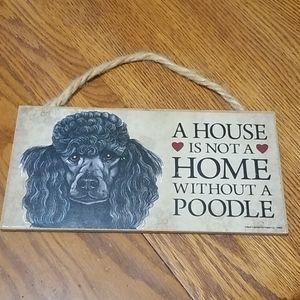 Other - Poodle Decoration Sign